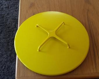 Dansk Kobenstyle Vintage Yellow Lid For 11 Inch Casserole - Lid Only