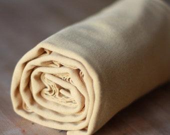 Elvelyckan Design Organic Ribbing in Gold -  95 percent organic cotton - UK Seller