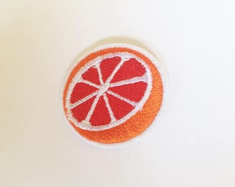 Cute Blood Orange Grapefruit Rockabilly Hippie Sew or IRON ON PATCHES Retro Child Kid Embroidered Bag Hat Clothing Patch