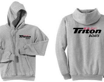 Triton Boats Ash Grey Hoodie Sweatshirt