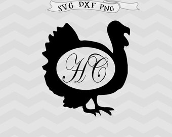 Turkey monogram SVG Turkey svg Farm svg animals svg Bird monogram svg files for Cricut files Cutting File DFX files Baby svg for Silhouette