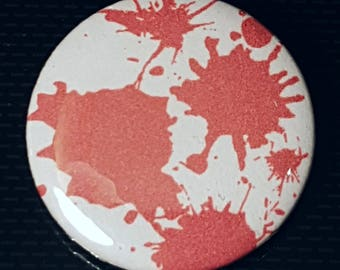 Blood Badge, Blood Buttons, Blood Spatter, Gothic Badges, Rock Music Badge, Occult Badge, Teenager Gift, Student Gift, Bag Accessories