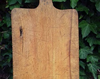 Antique Primitive Wooden Carved Cutting Board Natural Patina