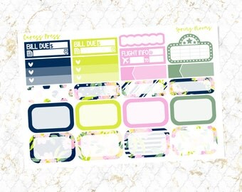 30% OFF | Spring Blooms Assorted Half Boxes | 21 Stickers