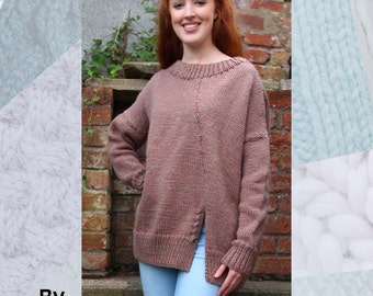 The Jackie Brown Sweater Hand Knitting Pattern