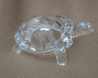 Vintage Tortoise; Vintage Glass Figurine