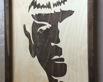 Spock Star Trek Wooden Inlay Wall Art