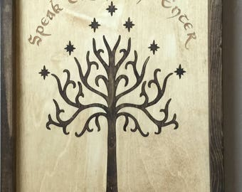 Lord of the Rings Doors of Durin Wooden Inlay Wall Art