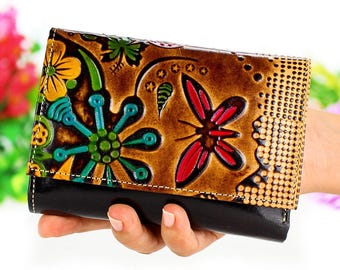Clutch Wallet, Women Wallet, Small Wallet Woman, Cute Wallets, Fabric Wallet, Small Wallet, Credit Card Wallet embossed c
