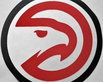 Huge Atlanta Hawks Iron On Patch
