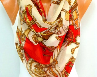 Scarf, Shawl, Ladies Scarf, Womens Shawl, infinity Scarf, Chiffon scarf, Lightweight Summer Scarf, Gifts for Christmas, for Mothers Day