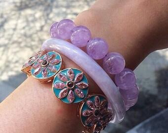 Purple Jade Bangle