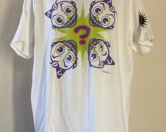 Vtg 1991 Jesus Jones T-Shirt White XL 90s Alternative Rock Band