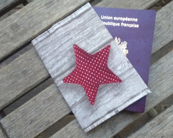 protects Brown star Passport Red