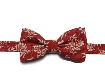 bow tie, bowtie, BowTie, floral, bow tie pre tied, made in paris
