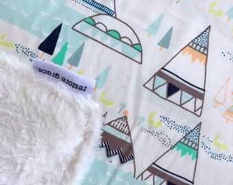 Woodland Pines Pram Blanket