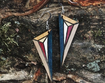 Midnight Burst Dagger Earrings