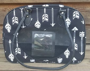 Black Arrow Pet Carrier - Personalized/Monogrammed