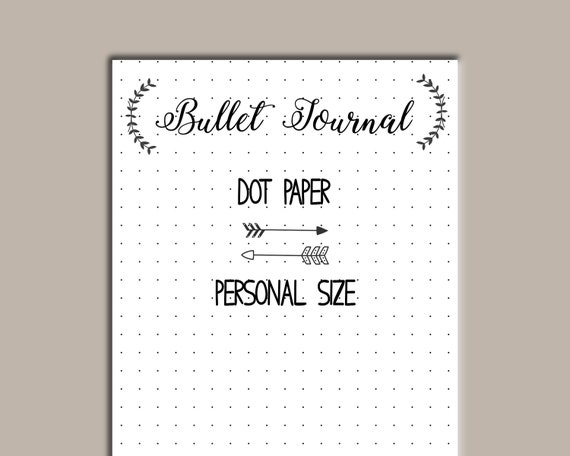 Dot Calendar Bullet Journal : Personal size printable bullet journal dot paper filofax