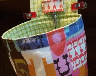 Sewing Pin Cushion and Thread Catcher with Scissor Holder