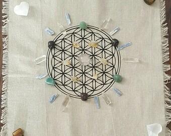 Cloth Crystal Grid // Gift // Altar // Meditation