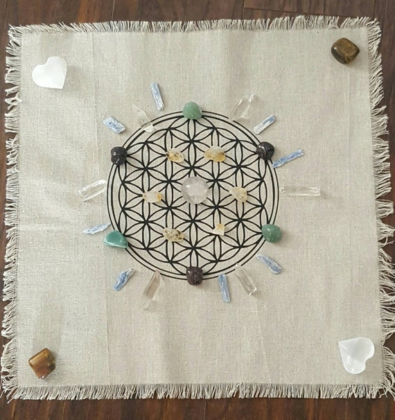 Cloth Crystal Grid // Gift // Altar // Meditation