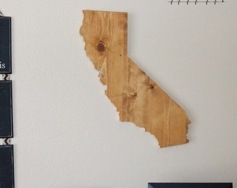 California State Sign, California Sign, California, California Wood Sign, California Wood Cutout, California Wall Art, California Cutuou