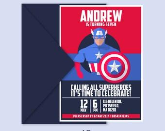 Avengers invitations | Etsy UK