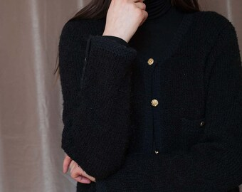 Chanel Inspired Black Sweater