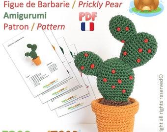 CACTUS - Figue de Barbarie - Amigurumi Crochet Patron - Français