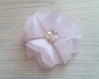 flower hair clip,Baby flower hair clips,chiffon,white flower hair clip,baby hair clips,hair accessory,hair barrette,flower hair pins