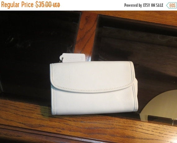 Football Days Sale Coach Parchment Leather Swing Wallet Style No. 4965 Without Strap
