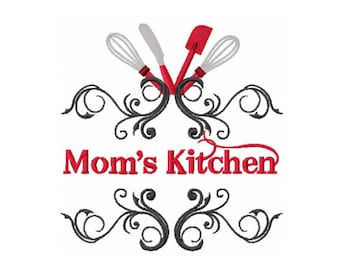 Moms Kitchen Design - Kitchen Embroidery Design - Moms Embroidery Design - Mother Day Embroidery Design - Baking Embroidery Design