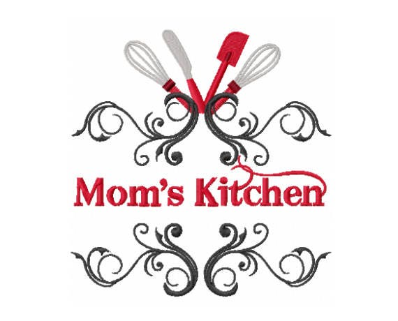 Moms Kitchen Design Kitchen Embroidery Design Moms