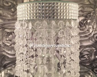 Mini Chandelier Candle Holder with Mirror Top