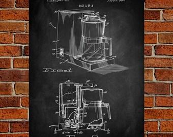 Coffee Pot Art Print, Coffee Pot Patent, Coffee Pot Vintage, Coffee Pot Blueprint, Coffee Pot Print, Prints, Wall Art, Decor