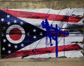 Ohio Lineman Flag