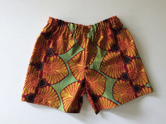 African wax printed toddler kids shorts