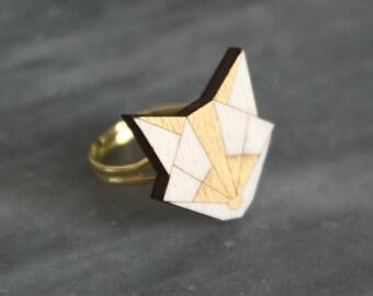 Fox head ring