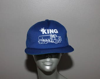70s Trucker Baseball Hat Cap New Era Big Rig Truck Driver King Snapback 80s