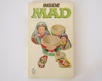 Inside MAD William M Gaines With a Special Backward by Stan Freberg 1976 Paperback Free US Shipping