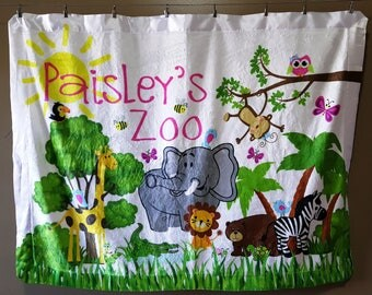 Personalized Baby Blanket, Monogrammed Baby Blanket, Zoo Animals Blanket, Baby gift, Custom Baby Blanket, Custom Blanket, Baby Shower Gift