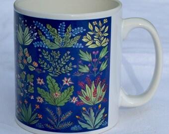 Mug 5. Mille fleurs. Ceramic mug, tea mug, coffee mug, home gift