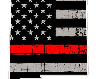 New Mexico State (C32) Thin Red Line Vinyl Decal Sticker Car/Truck Laptop/Netbook Window