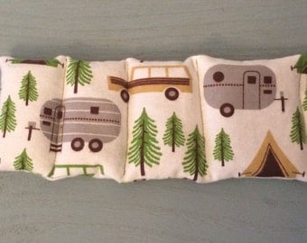 Camper Aromatherapy Microwave Eye Pillow, Hot and Cold Pack, Flaxseed Pillow, Lavender Pillow, Camping, Sleep Mask, Natural Healing, cars