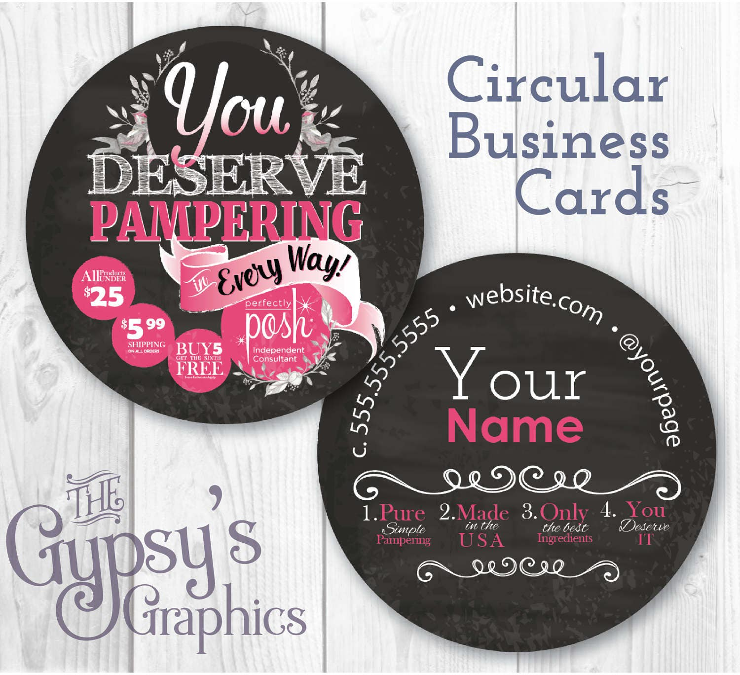 Perfectly Posh Business Cards ChalkboardBusiness Cards