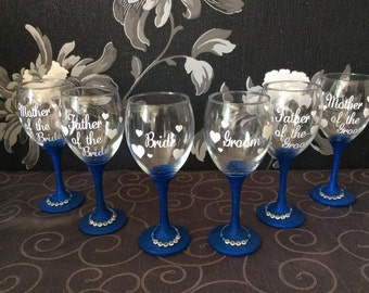 Wedding party vinyl glitter glass