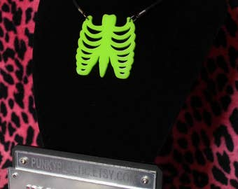 large ribcage necklace