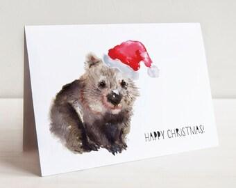 AUSTRALIANA CHRISTMAS CARD Pack // Australian Animals // Watercolour // Illustration // Cute Christmas Cards