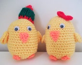 Sale  Reduced in Price. Crocheted Cheeky Chubby Chick.  UK Seller!